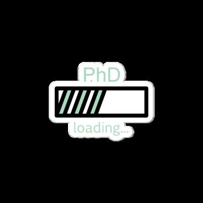 PhD Loading Sticker (Mint)