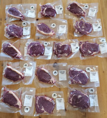 Striploin Steak Only Box - 10 pounds