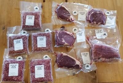 Mixed Roast Beef/Steak Box - 10 pounds