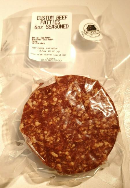 Two Large Lean Hamburger Patties - 3/4 pound