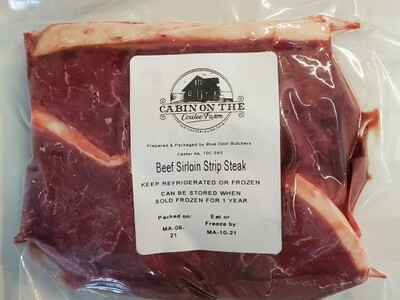 Sirloin Strip Steak - 3 pounds