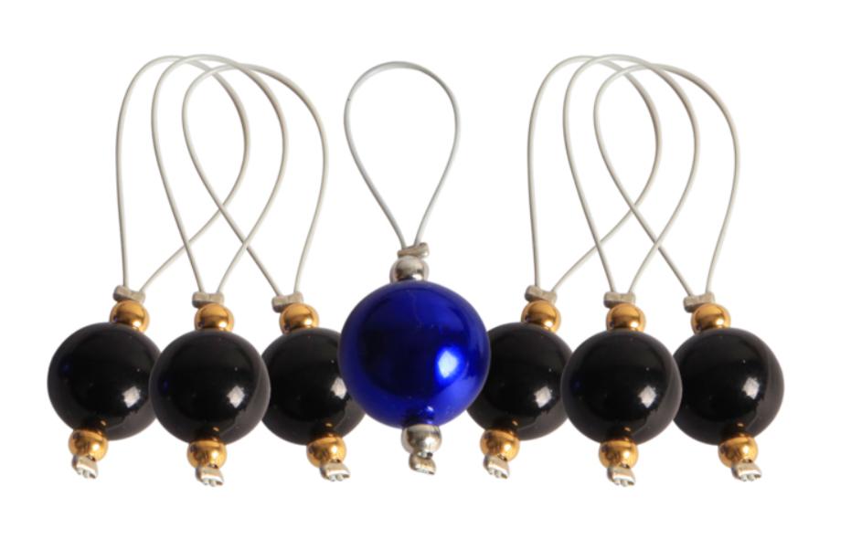 Маркер для вязания Midnight Beauty (Полуночная красота) пластик, 7шт, Knit Pro