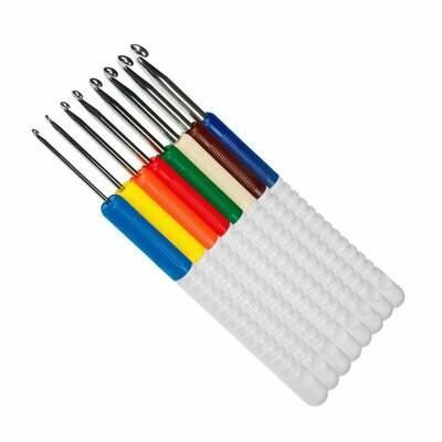 Крючок вязальный с пластиковой ручкой Addi, 15см