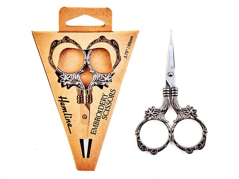 Ножницы 9,5 см, цвет серебро, черный металл