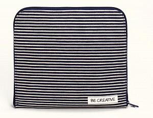 """Сортировочная сумка-клатч """"Denim & Stripes"""" /Деним и полосы/ 24*21,5*2см"""