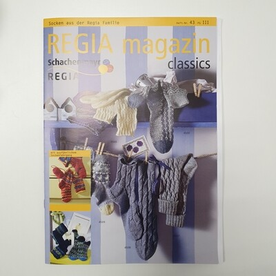 Журнал Regia Magazine /Регия магазин/ 43 - Носки семейства Регия, на немецком языке, с переводом на русский(вкладыш)