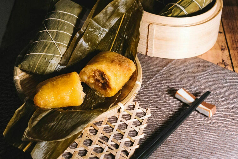 棗蓉鹼水糉 (Rice Dumpling with datebean paste alkaline water)