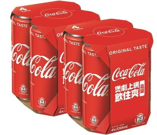可口可樂原味 330ml 4罐裝 X 2排