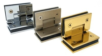 90° Heavy Duty Hinge for Frameless Shower/Glass Doors