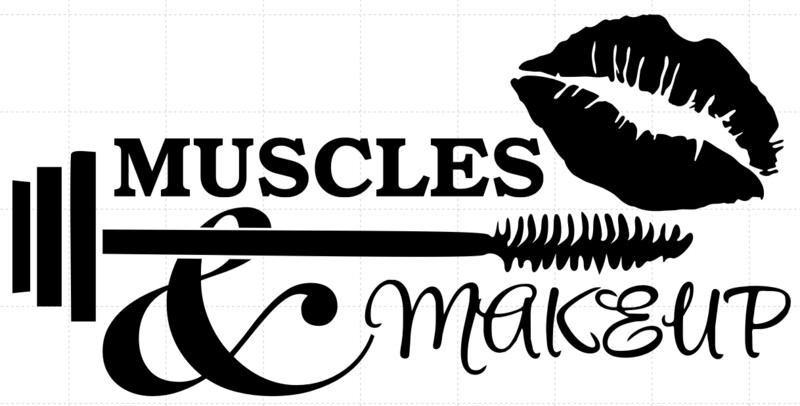 Muscles & Makeup Decal