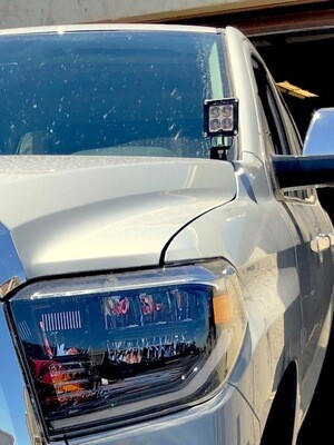 2014-2020 Toyota Tundra Low Profile Ditch Light Brackets