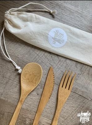 Bamboo Cutlery Set (4 Piece)
