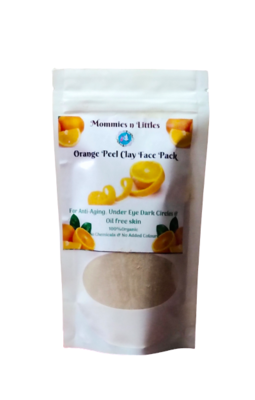 Orange peel face mask - Anti-ageing, Wrinkle-free & Oil-free skin ( 100 g )