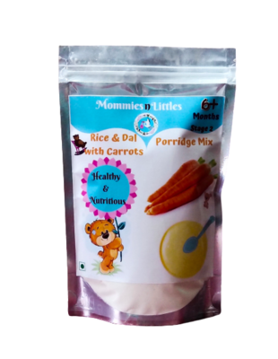 Dal Rice Porridge Mix with Carrots - 100% Organic