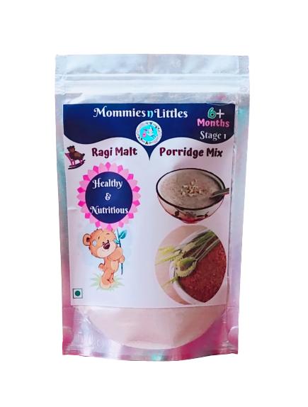 Sprouted Ragi Malt Porridge Mix ( Rich In Iron & Calcium) - 100% Organic