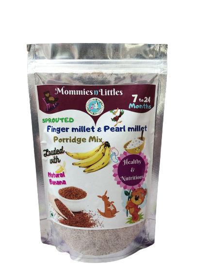 Sprouted Ragi & Pearl millet with Banana - 100% Organic