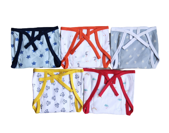 Baby Nappies - 0 to 4 months ( Pack of 5 )