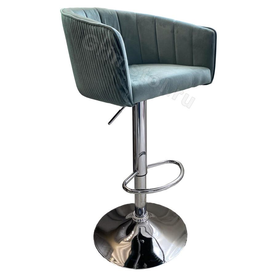 Барный стул велюровый СБ4М