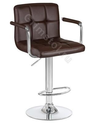 Барный стул на ножке коричневый СБ1К