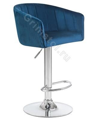 Барный стул велюровый синий СБ4С