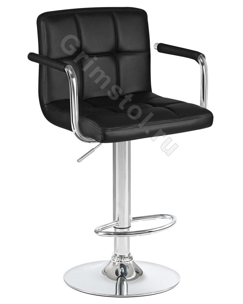 Барный стул на ножке чёрный СБ1Ч