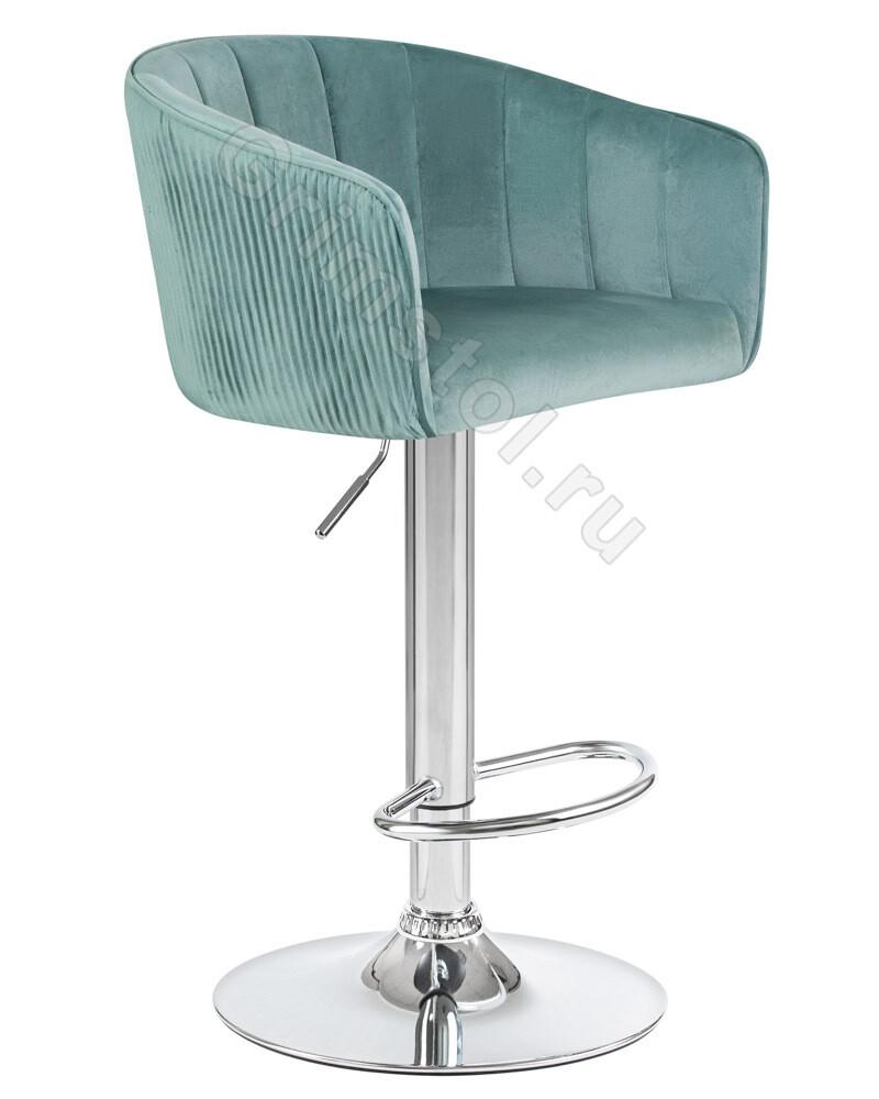 Барный стул велюровый мятный СБ4М