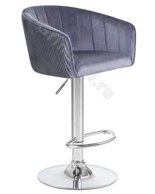 Барный стул велюровый серый СБ4СЕ
