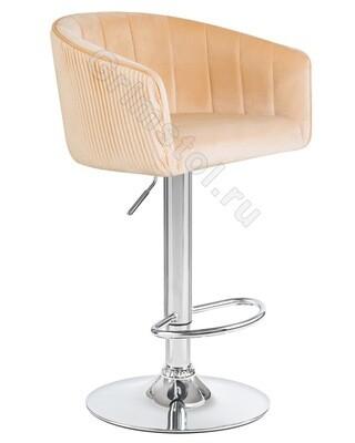 Барный стул велюровый песочный СБ4П