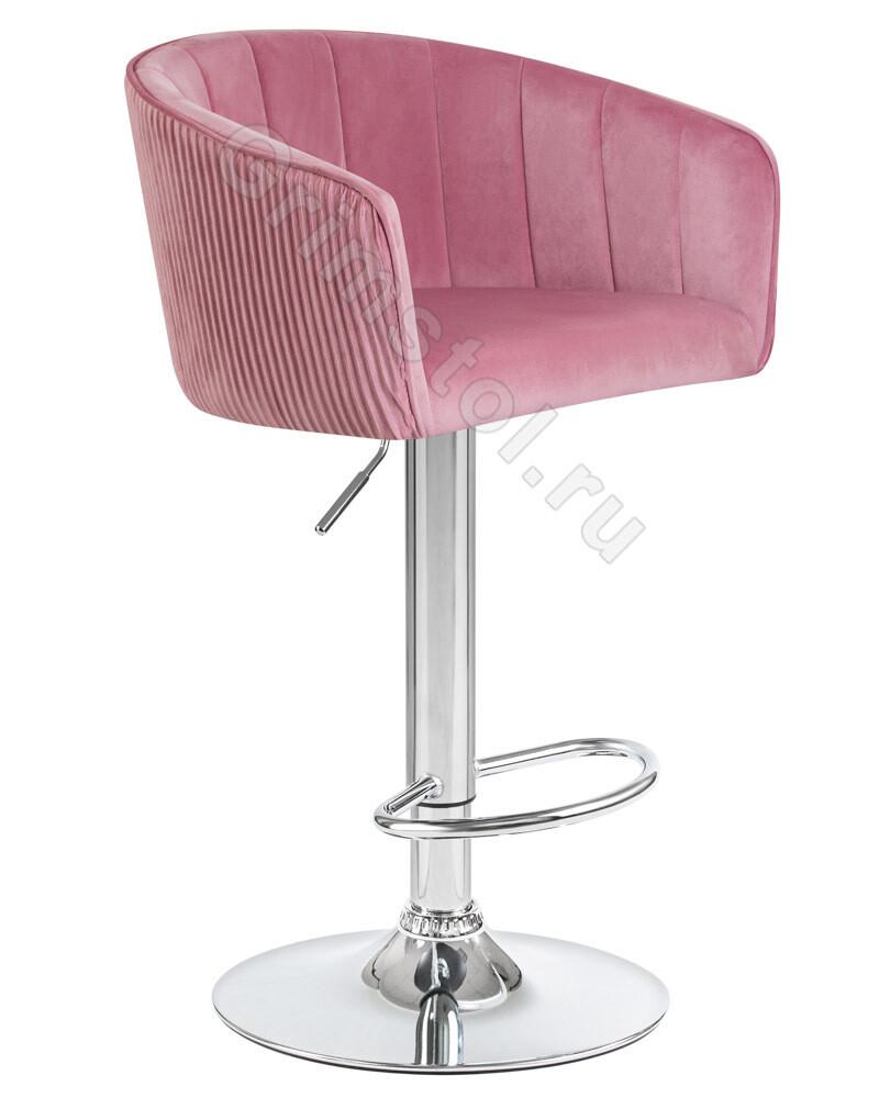 Барный стул велюровый розовый СБ4Р