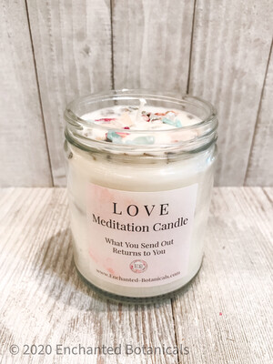 LOVE Meditation Candle