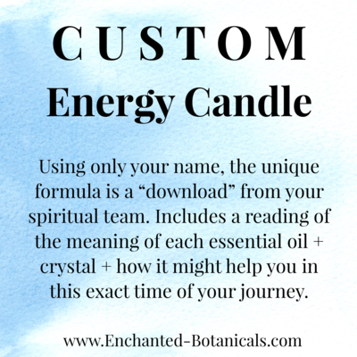 CUSTOM Energy Candle 4 oz, Personalized Guidance from Spirit, with a written