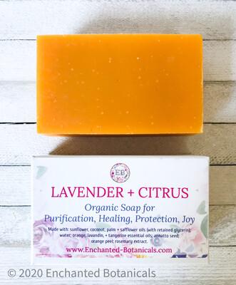 SOAP (organic), Lavender + Citrus