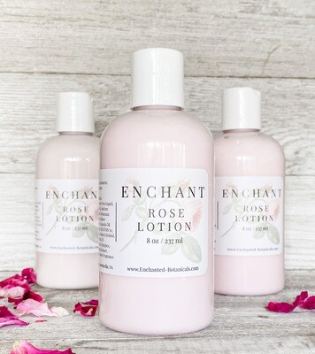 ENCHANT Rose Lotion, 8 oz.