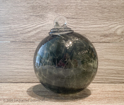 """WITCH BALL 4"""" Gray - Green"""