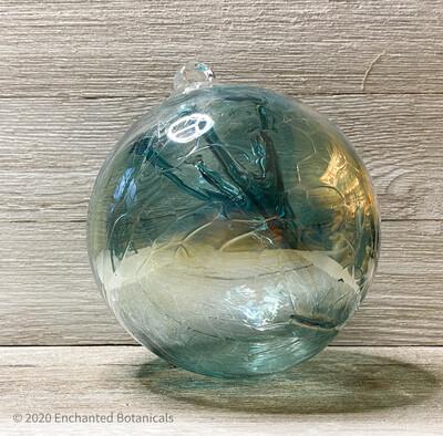"""WITCH BALL 6"""" Emerald + Blue Iridescent"""