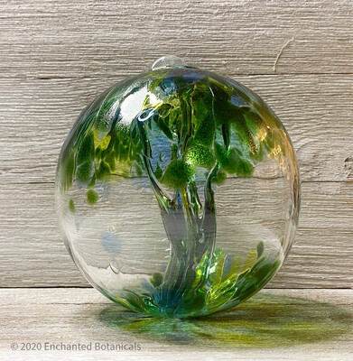 """WITCH BALL 6"""" Green, Blue + Yellow"""