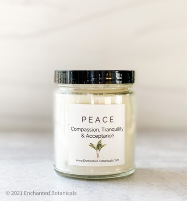 PEACE Meditation Candle