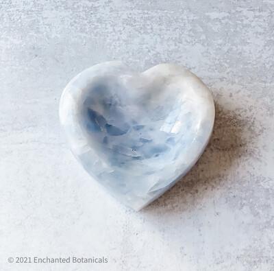 BLUE CALCITE Heart Shape Blessing Bowl