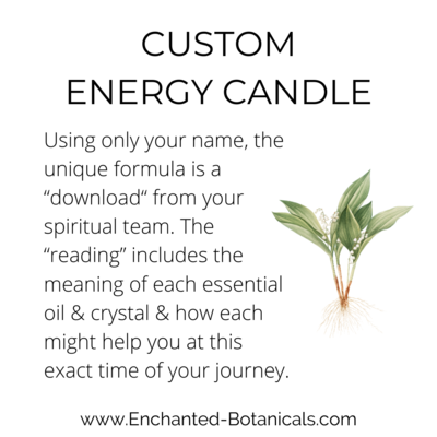 """CUSTOM Energy Candle 4 oz, Personalized Guidance from Spirit, with a written """"reading"""""""