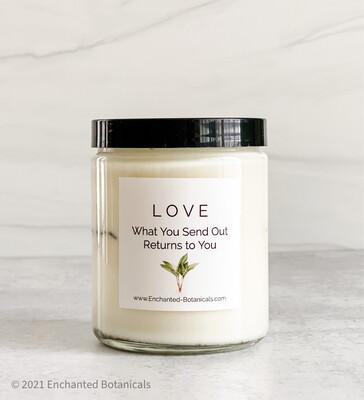 LOVE Meditation Candle