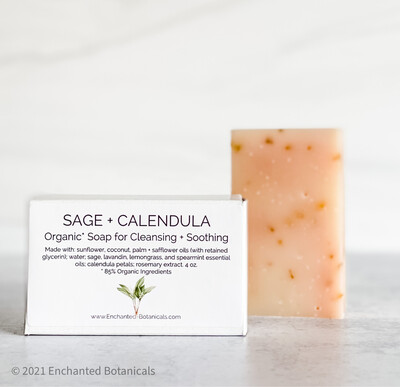 SOAP (organic), Sage and Calendula