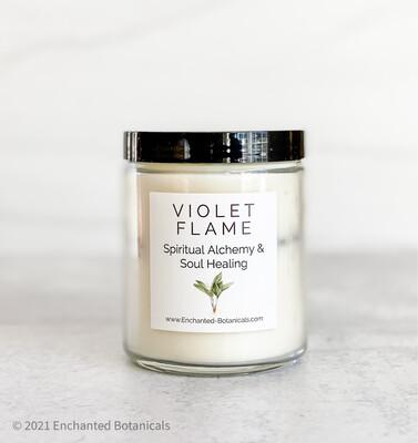 VIOLET FLAME Meditation Candle