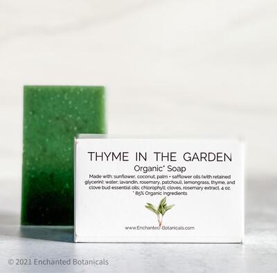 SOAP (organic), Thyme in the Garden
