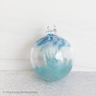 "WITCH BALL 2.5"" (Mini) Blue + Aqua"