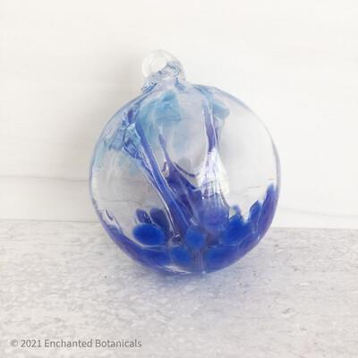 """WITCH BALL 2.5"""" (Mini) Cobalt + Lt Blue"""