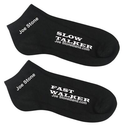 SlowTalkerFastWalkerSocks black, short, one size fits all