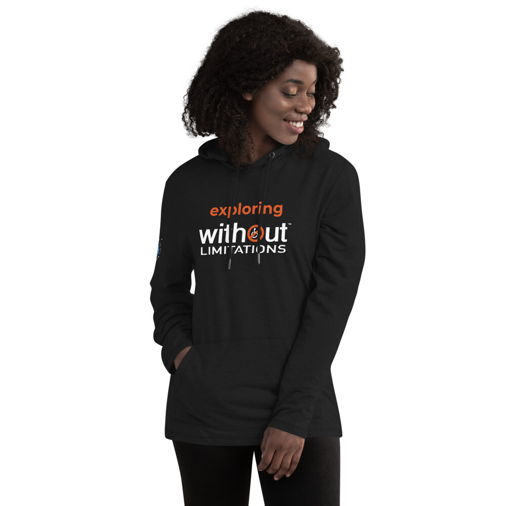 Exploring Without Limitations Unisex Lightweight Hoodie
