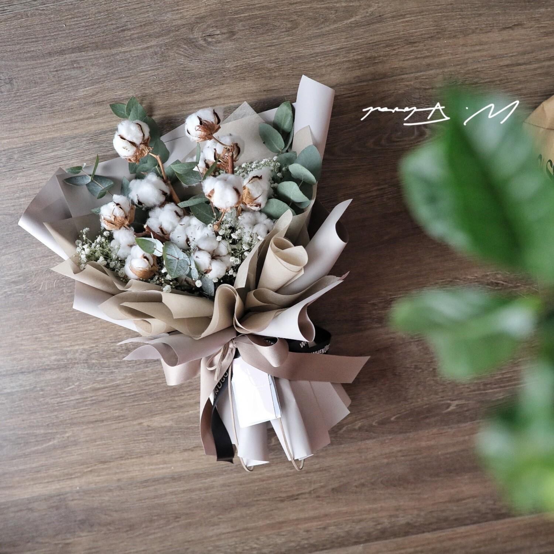 Best Wishes Cotton Bouquet