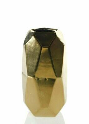 Gold Maven Ceramic Geometric Cylinder Vase