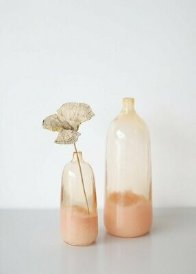 Lola Glass Floral Bud Vase in Ombre Coral